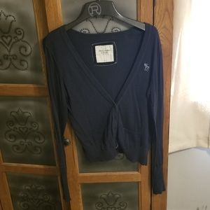 Navy Abercrombie and Fitch sweater cardigan